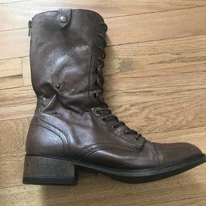 Steve Madden Brown Combat Boot